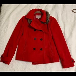 Banana republic red pea coat 🧥